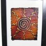 Bilder gemalt mit Maisstärke auf Pappmaché